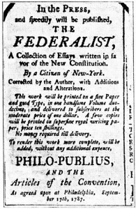 An Advertisement for The Federalist Papers